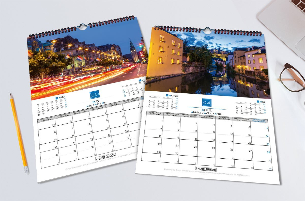 Lights Of The City Luxembourg Calendar 2019 – Stock Images Luxembourg Calendar 2019 Luxembourg