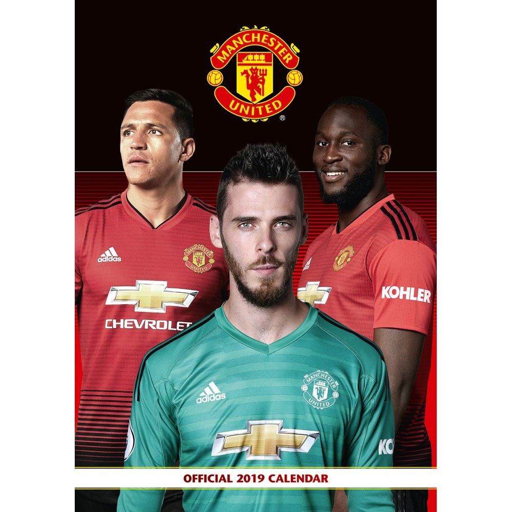 Manchester United Calendar 2019 | 2019 Calendars At The Works Man U Calendar 2019