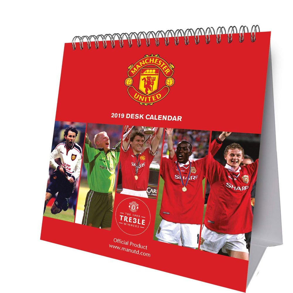 Manchester United Desk Calendar 2019 | 2019 Calendars At The Works Man U Calendar 2019