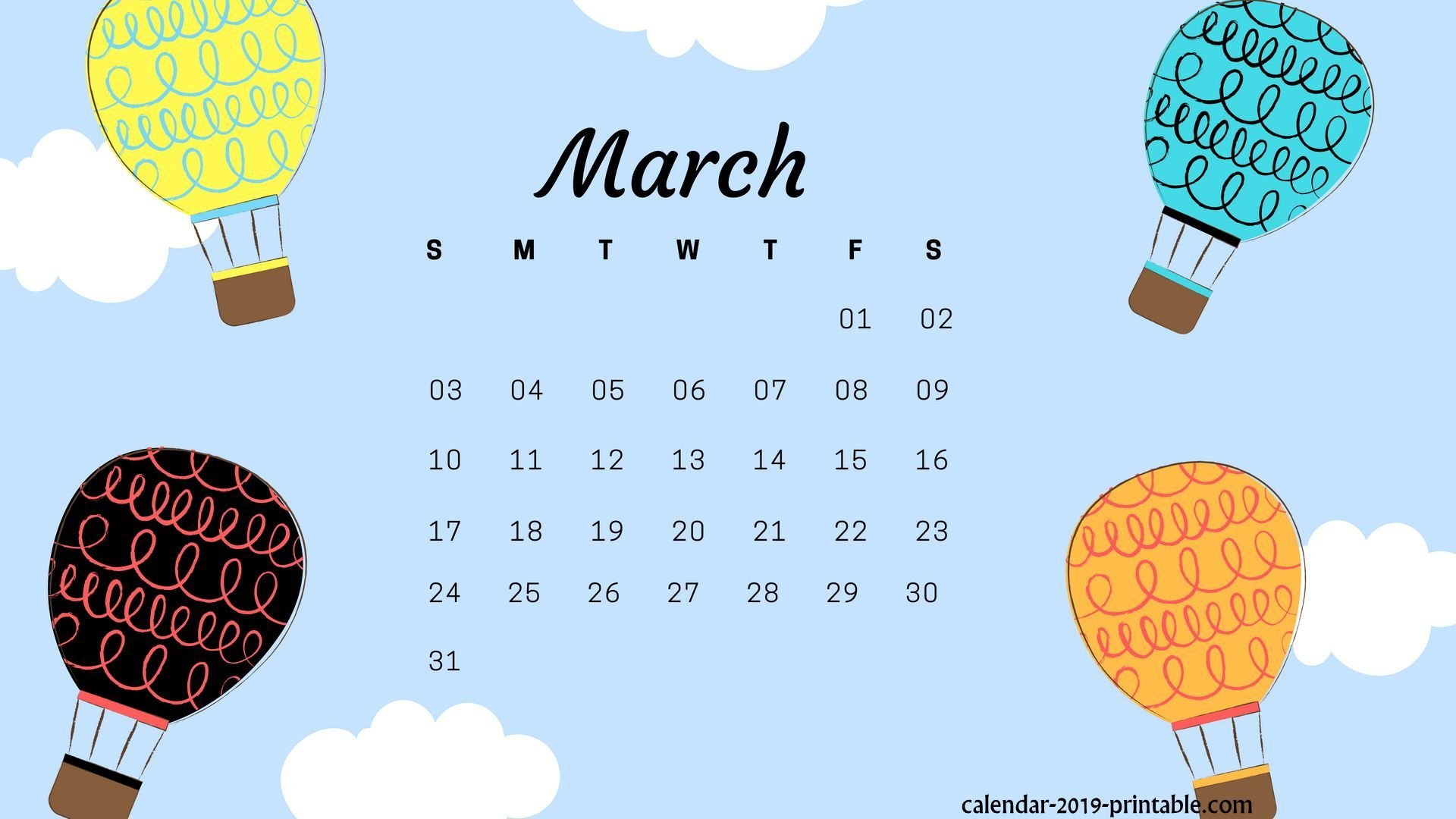 March 2019 Calendar Wallpapers - Wallpaper Cave Calendar 2019 Wallpaper