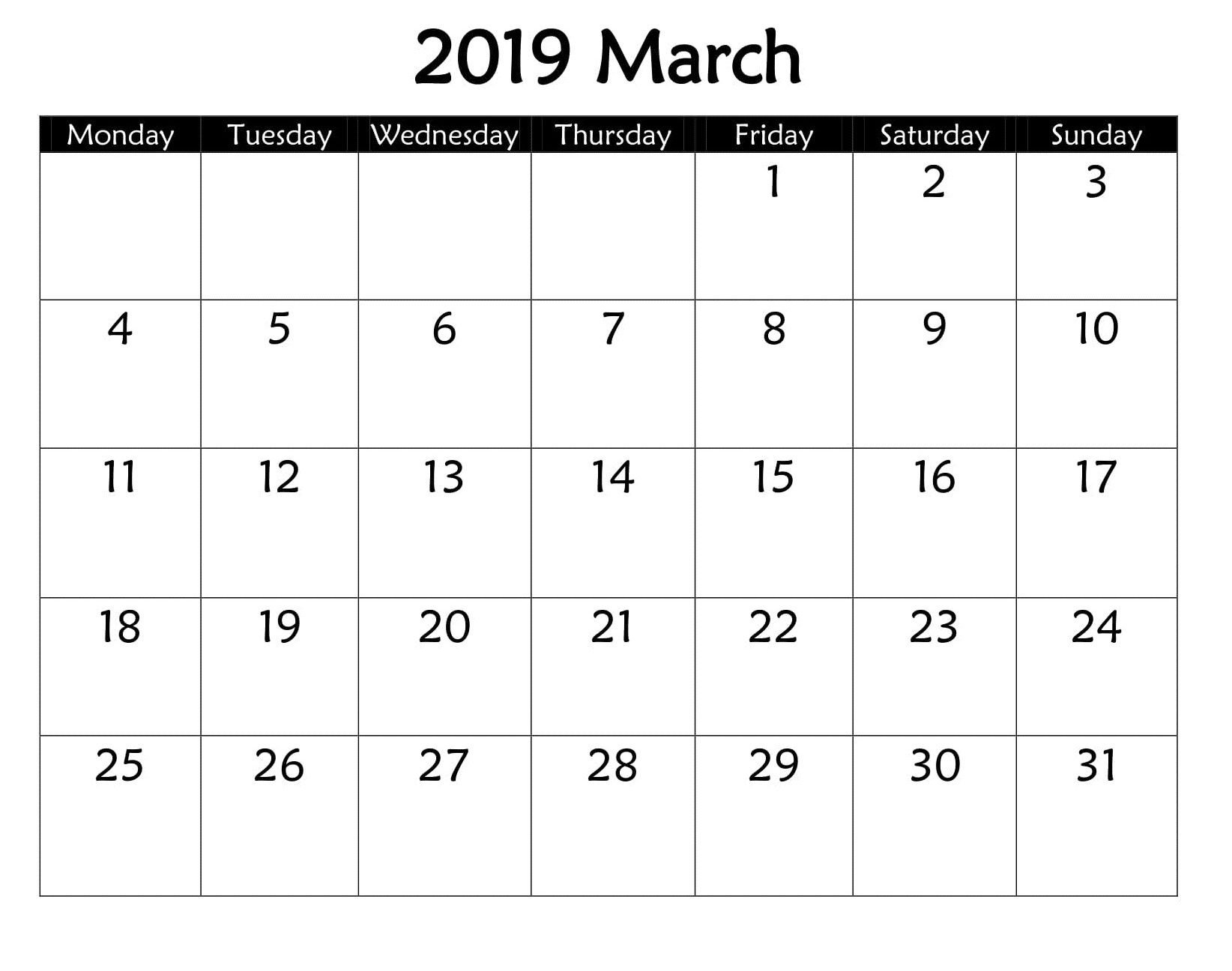 March 2019 Google Spreadsheet | Monthly Templates | Google Calendar Calendar 2019 Spreadsheet