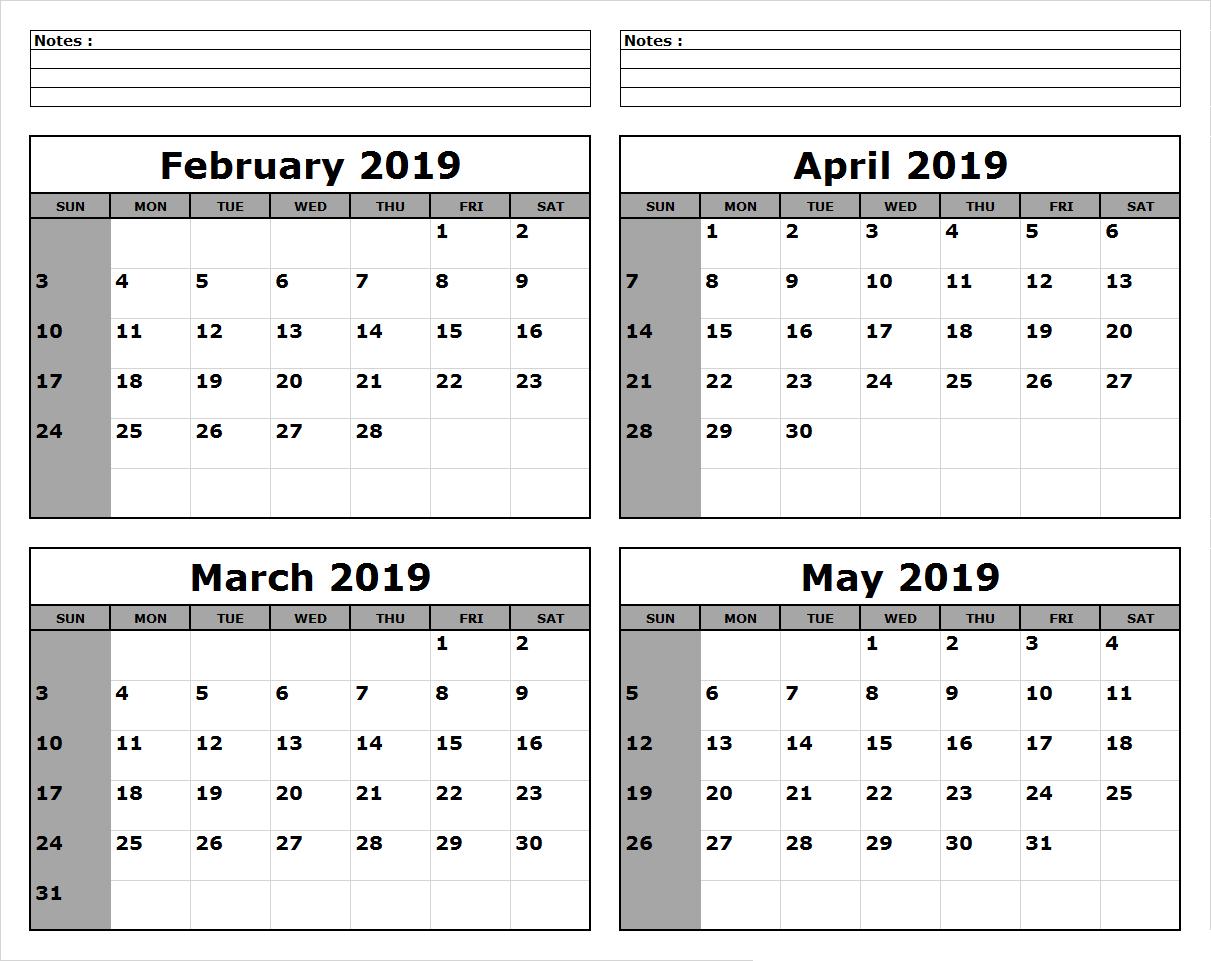 March April May 2019 Calendar Printable #march #april #may June 4 2019 Calendar