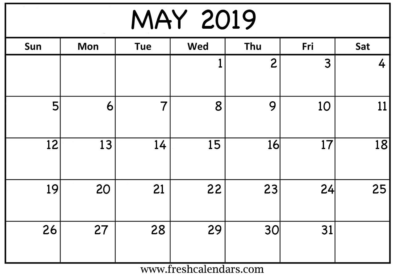 May 2019 Calendar Printable - Fresh Calendars May 4 2019 Calendar