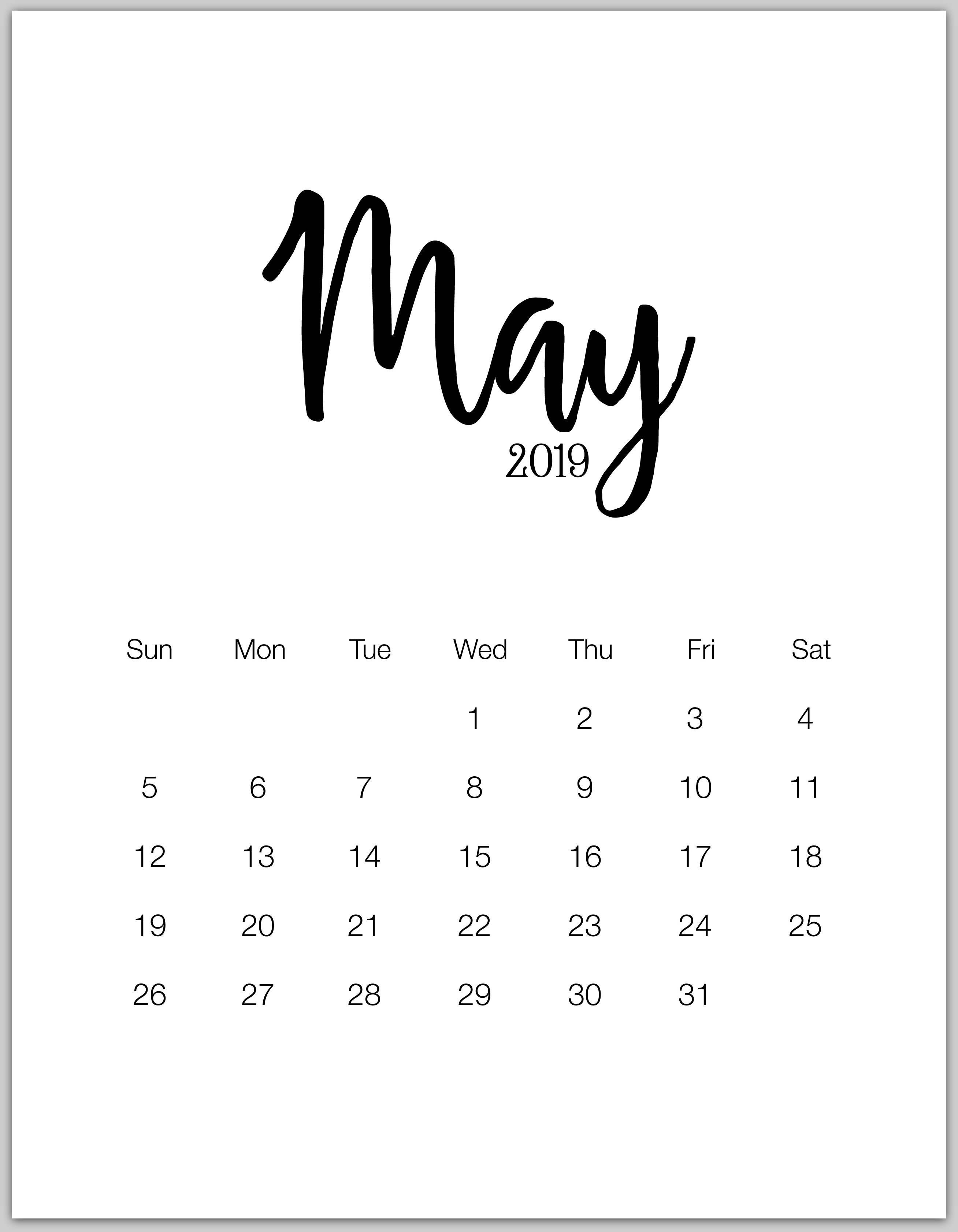 May 2019 Calendar Wallpapers - Wallpaper Cave May 8 2019 Calendar