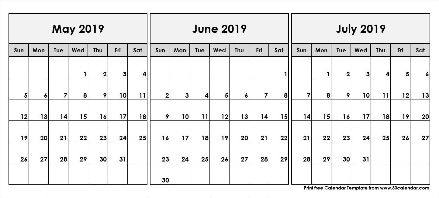 May June July 2019 Calendar | 2019 Calendar In 2019 | Calendar May Calendar 2019 May June July
