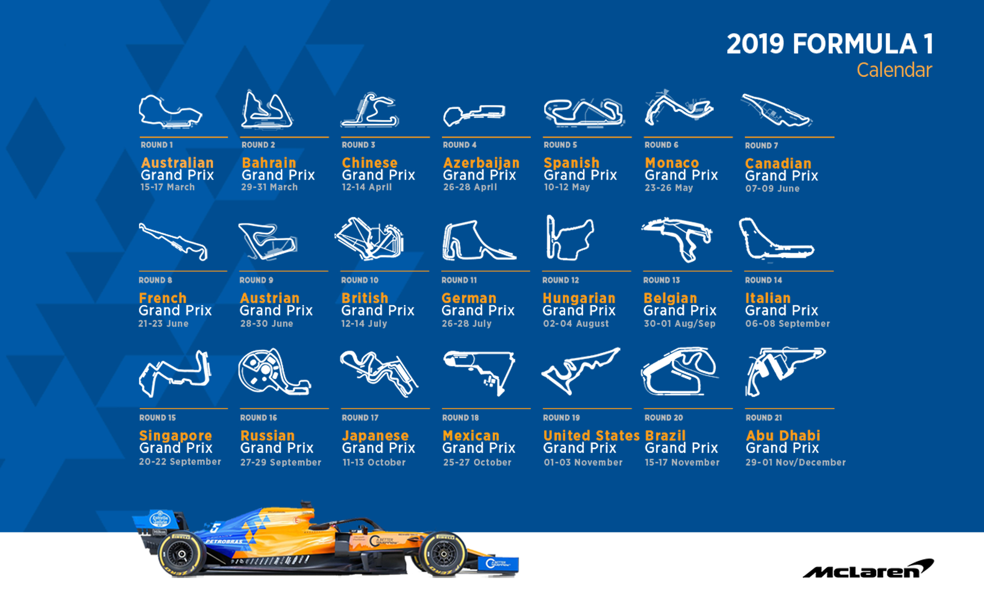 Mclaren Racing – Official Website Formula 1 Calendar 2019 Ical