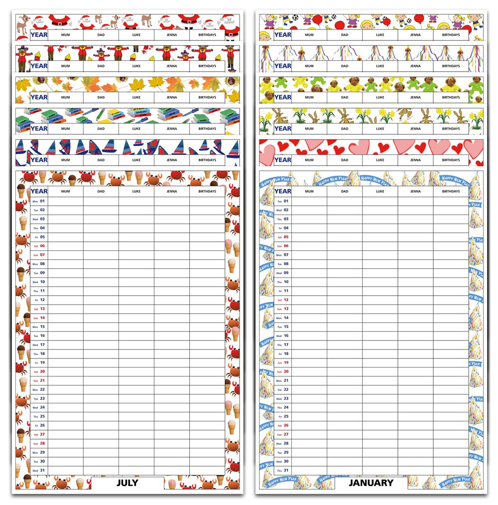 Monthly Themes Calendar Calendar 2019 Themes