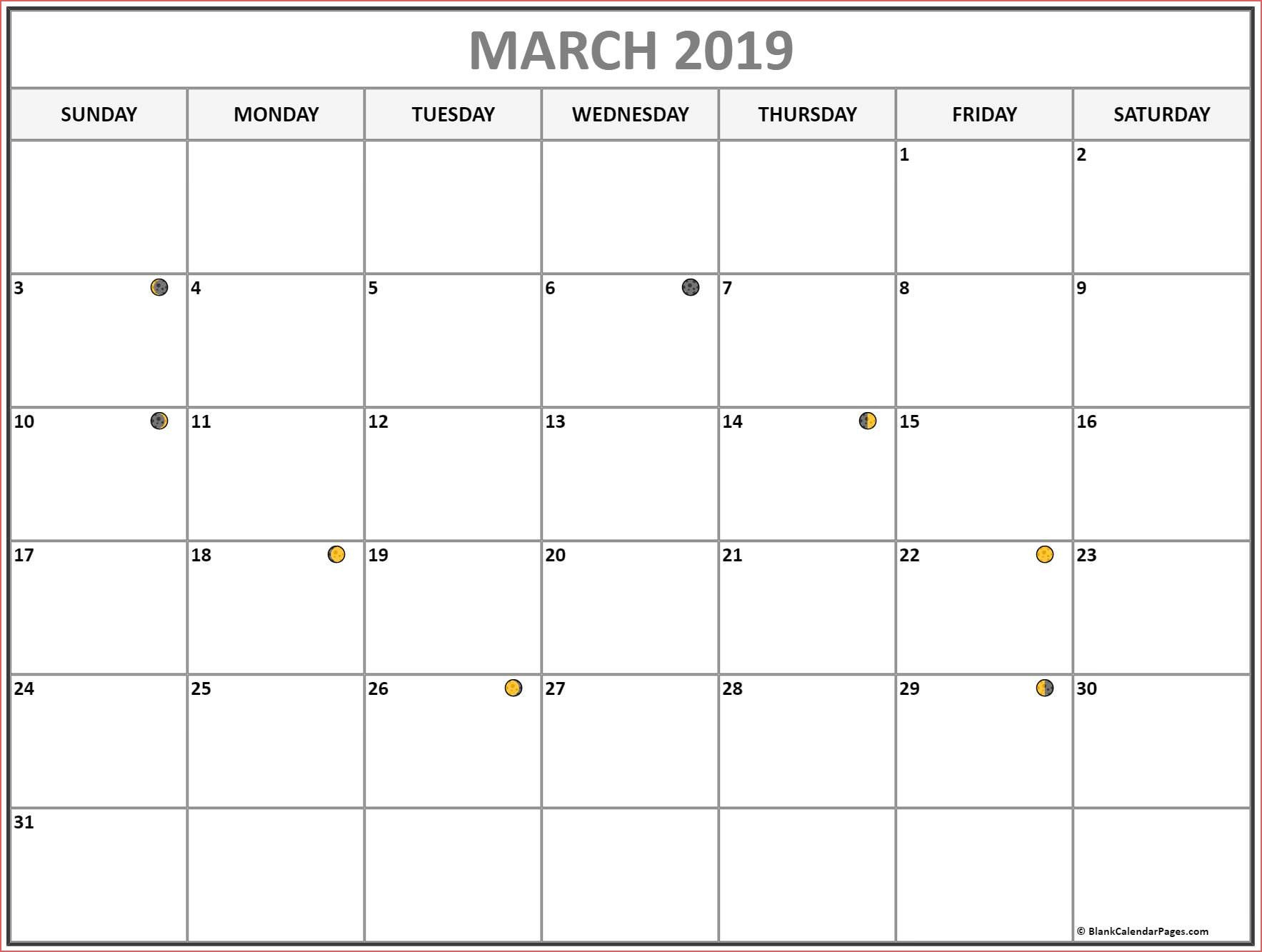 Moon Phase Calendar March 2019 Www Bilderbeste Com Moon Phases Calendar 2019 With Moon Phases