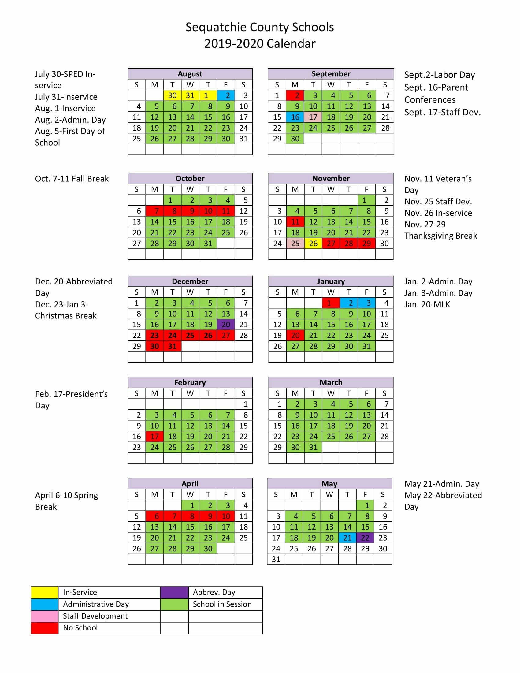 Mr. Mccluskey's Class Lausd 2020 Calendar – Get Your Calendar Printable Lausd Calendar 2019-20