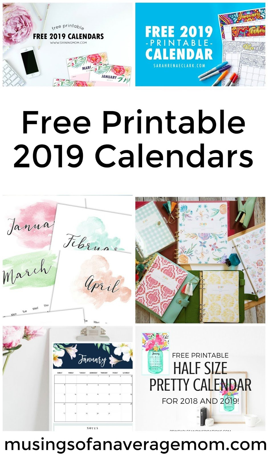 Musings Of An Average Mom: 2019 Calendars Calendar 2019 Imom