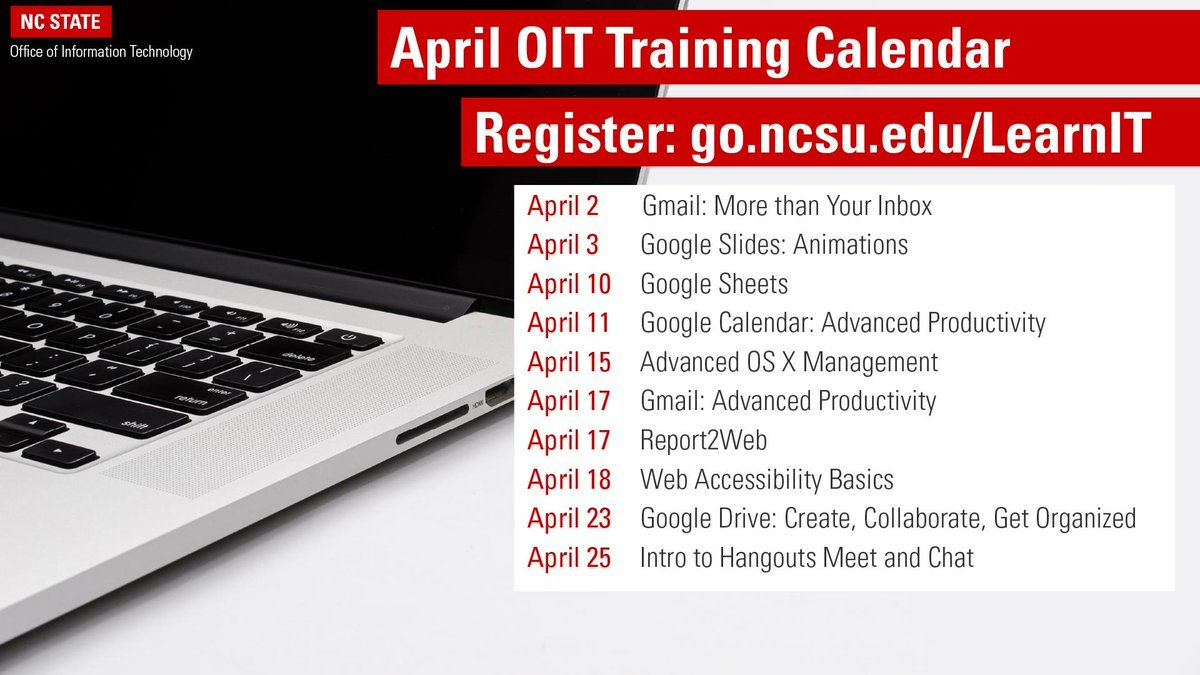 Nc State Oit (@ncstateoit) | Twitter Calendar 2019 Ncsu