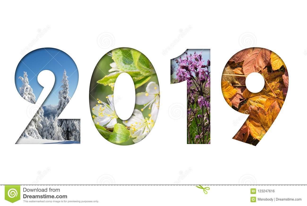 Number 2019 From Four Seasons Photos Stock Photo - Image Of Date 4 Seasons Calendar 2019