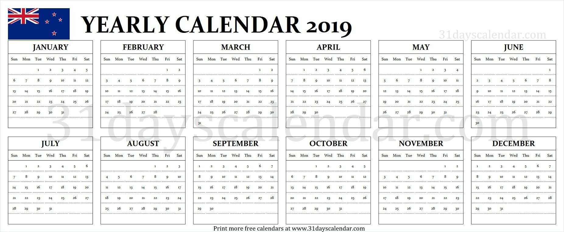 Nz 2019 Calendar | Calendar 2019 Nz | Calendar 2019 Nz, 2019 Calendar 2019 Nz