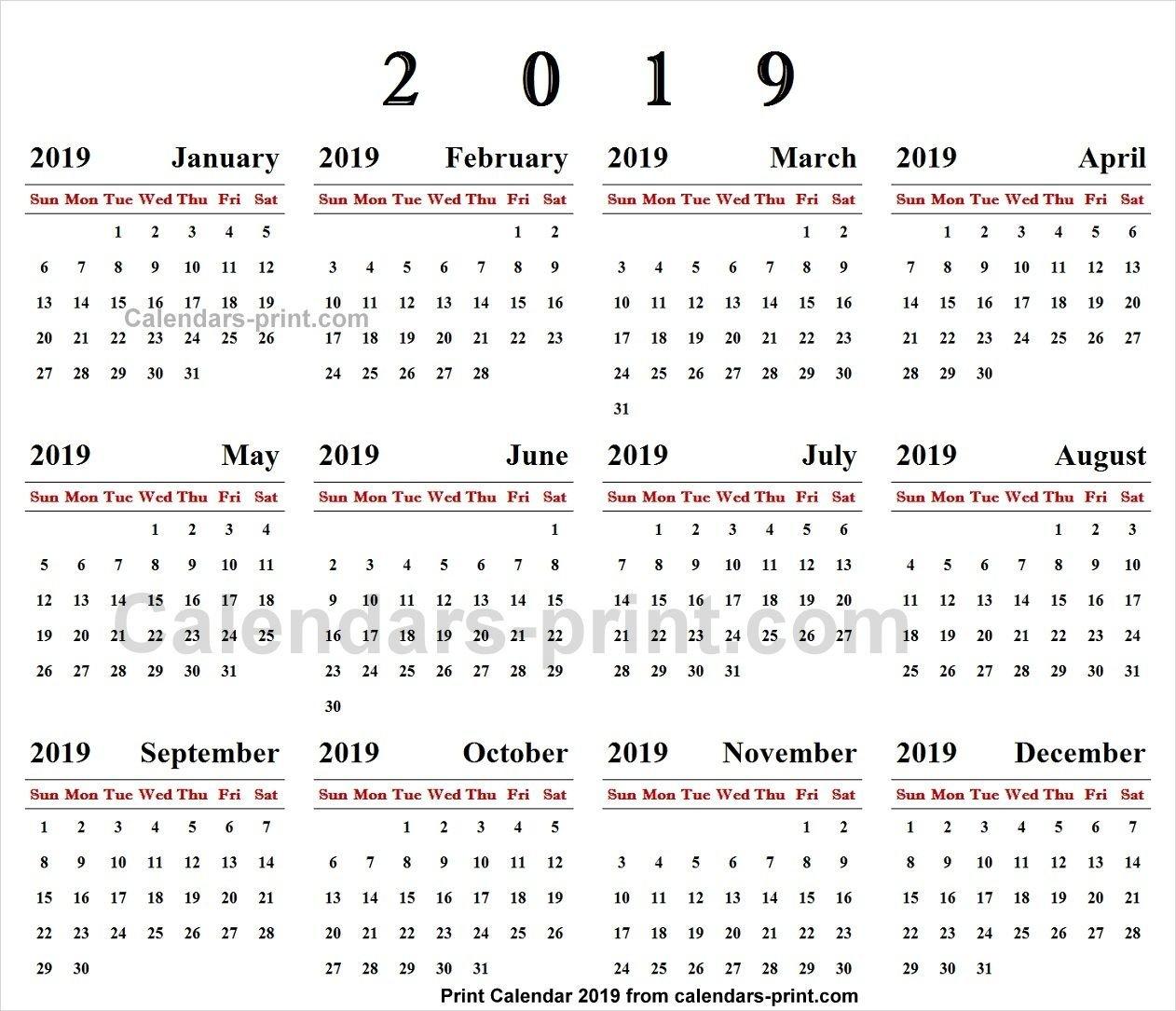 Online Calendar 2019 | 2019 Yearly Calendar | Online Calendar Calendar 2019 Online