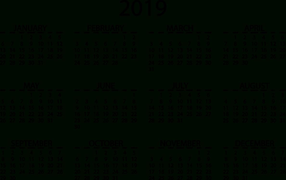 Online Calendar Video Cc0 - Area,text,monochrome Cc0 Free Download. Calendar 2019 Online