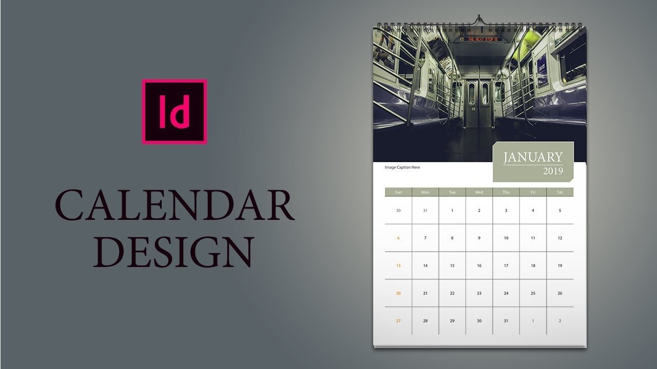 Only 16 Minutes: How To Design Calendar In Indesign - Youtube Calendar 2019 Indesign