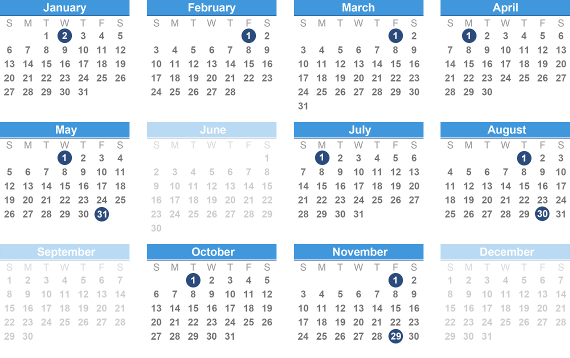 Opers Benefit Payment Schedule Chase 5 Calendar 2019