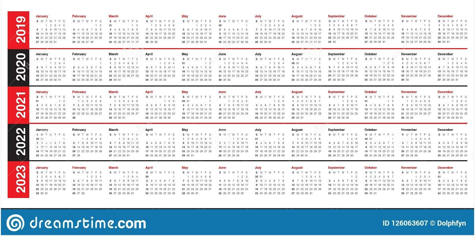 Printable 5 Year Calendar To Download Or Print | Americanwomanmag 5 Year Calendar 2019 To 2023 Printable