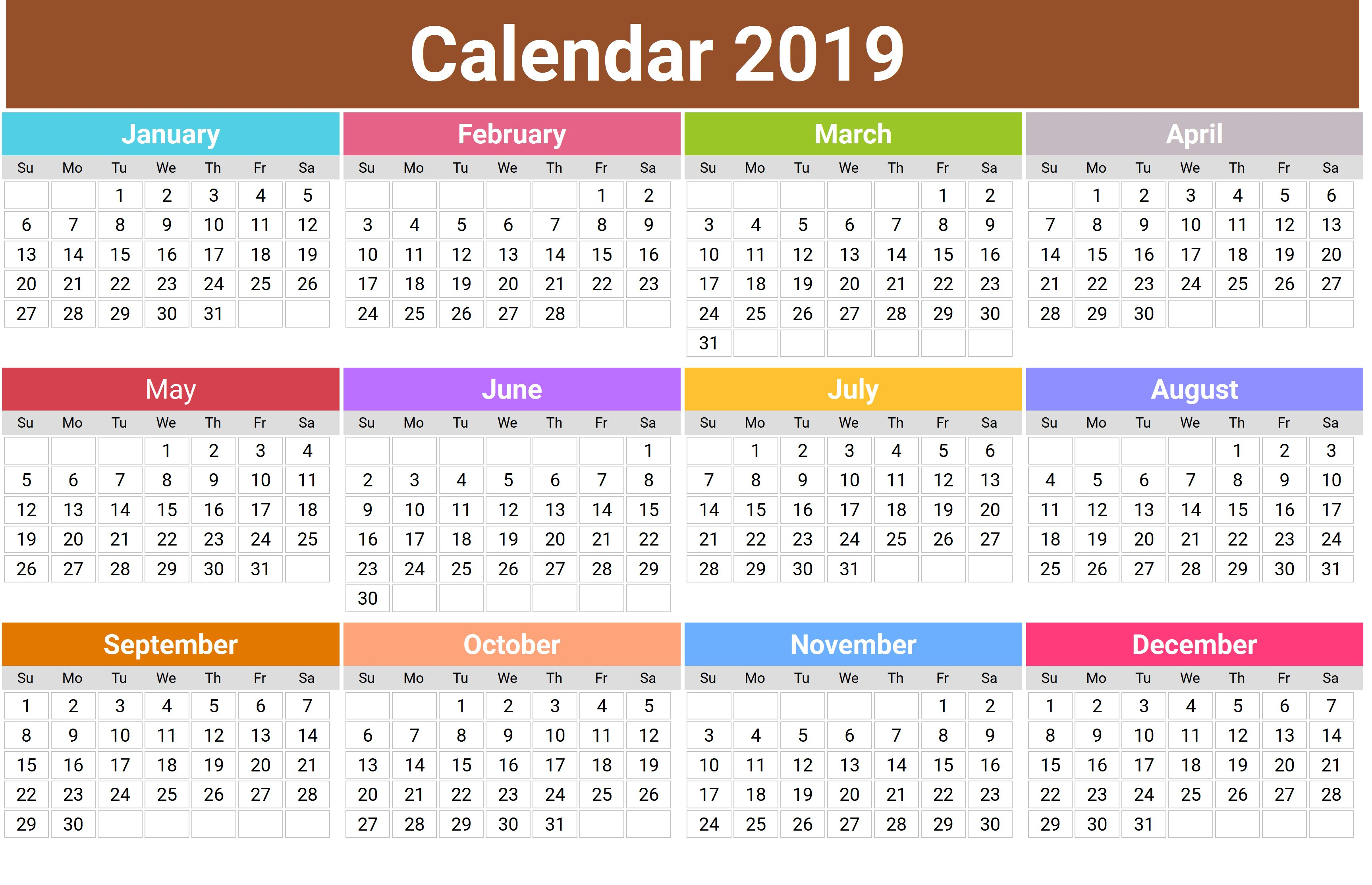 Printable Calendar 2018 Lebanon | Printable Calendar 2019 Calendar 2019 Lebanon