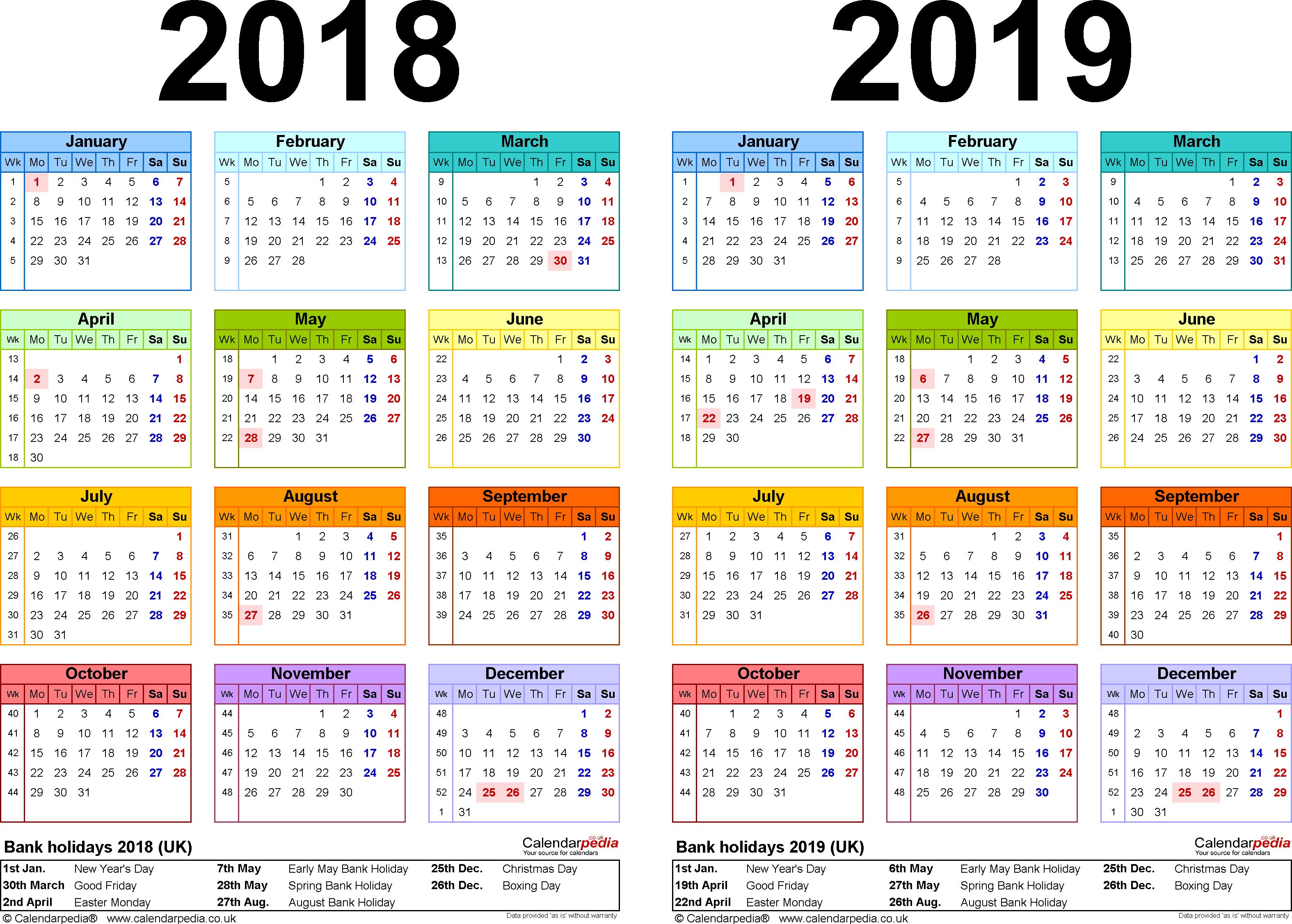 Printable Calendar 2018 Pakistan | Printable Calendar 2019 Calendar 2019 Excel Pakistan