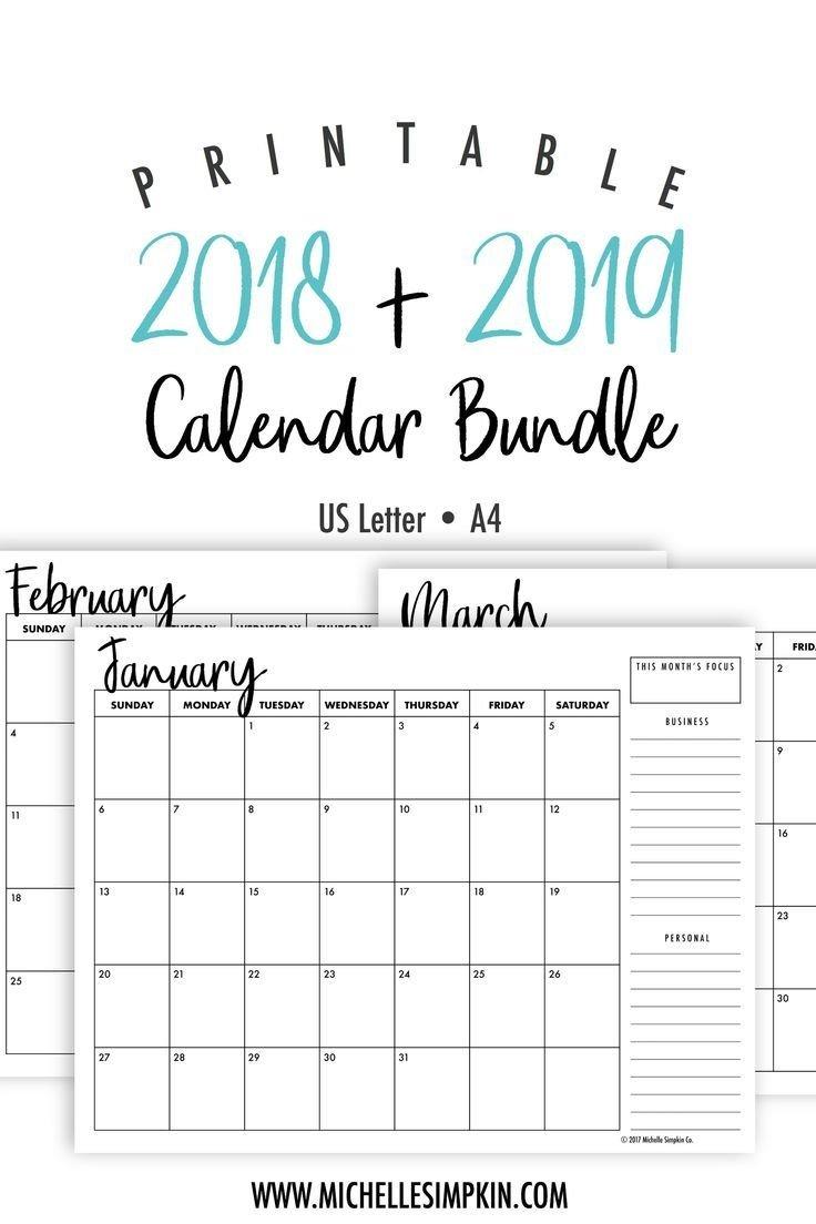 Printable Calendar 5 X 7 | Printable Calendar 2019 5 X 7 2019 Calendar