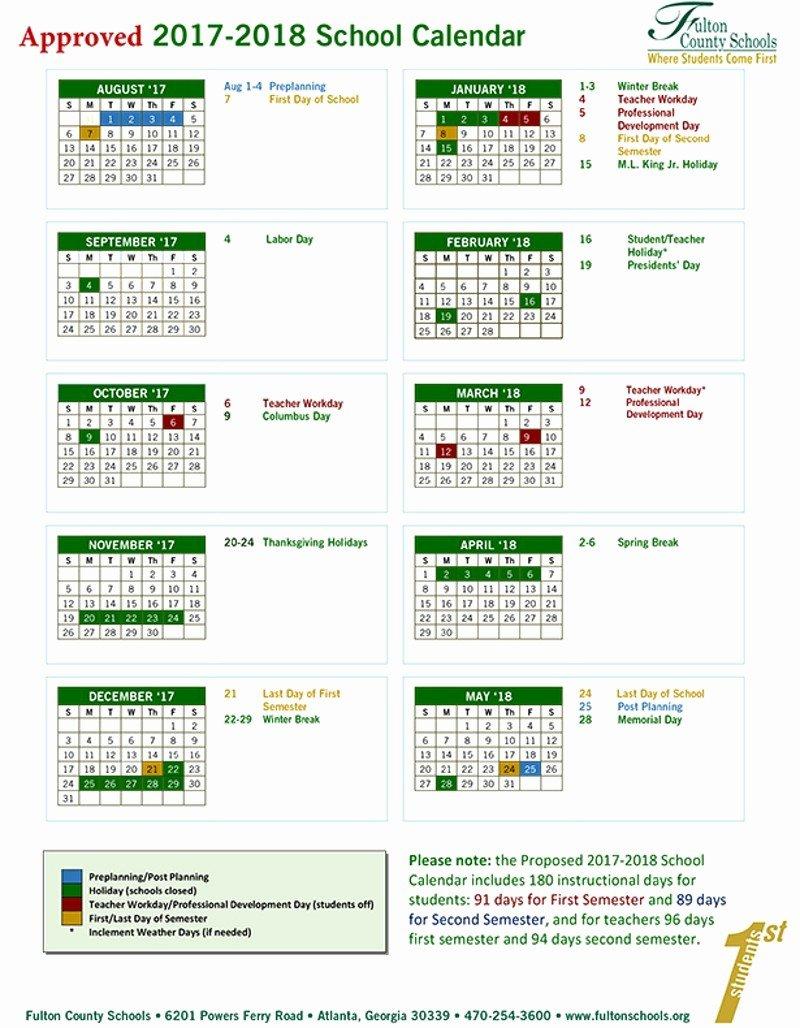 Printable School Calendar 17 18 Printable School Calendar 17 18 Gwinnett County School Calendar 2019-20