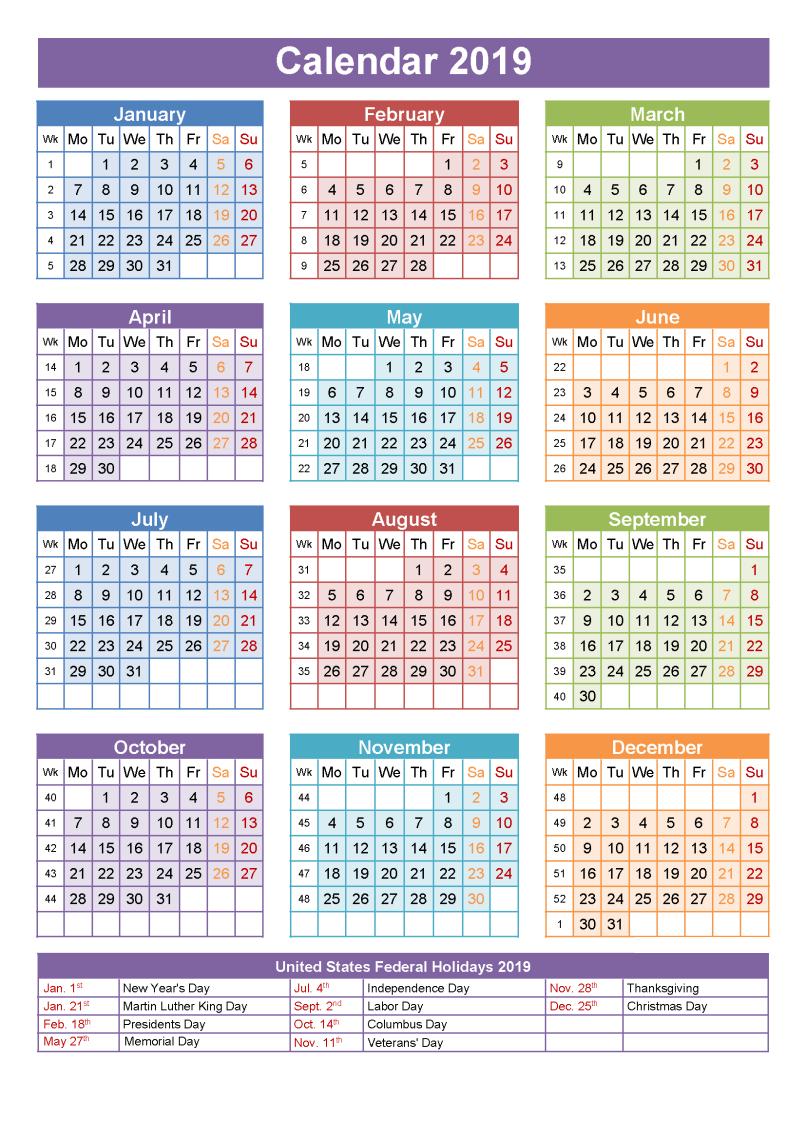 Printable School Calendar 2019 South Africa | Printable Calendar 2019 Calendar 2019 Excel South Africa