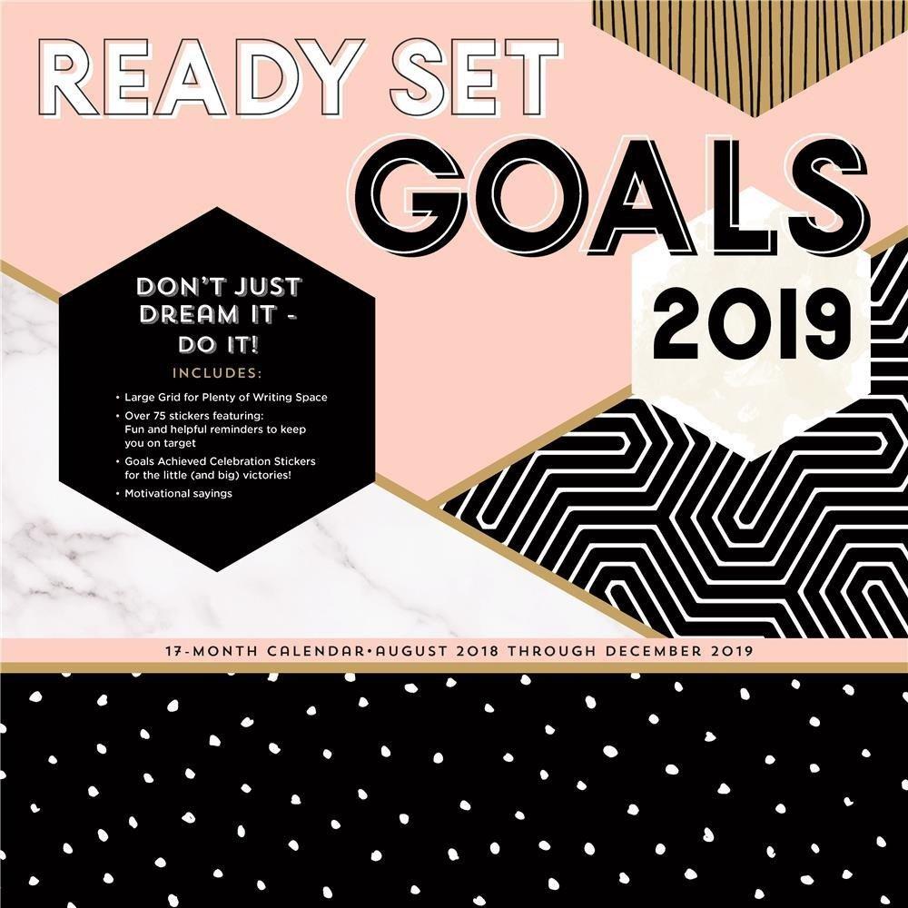 Ready Set Goals! 2019 Calendar - Apollo Rus Calendar 2019 At Target
