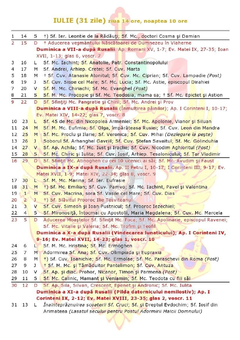 Remarkable Calendar 2020 Cu Zile Libere • Printable Blank Calendar Calendar 0Rtodox 2019