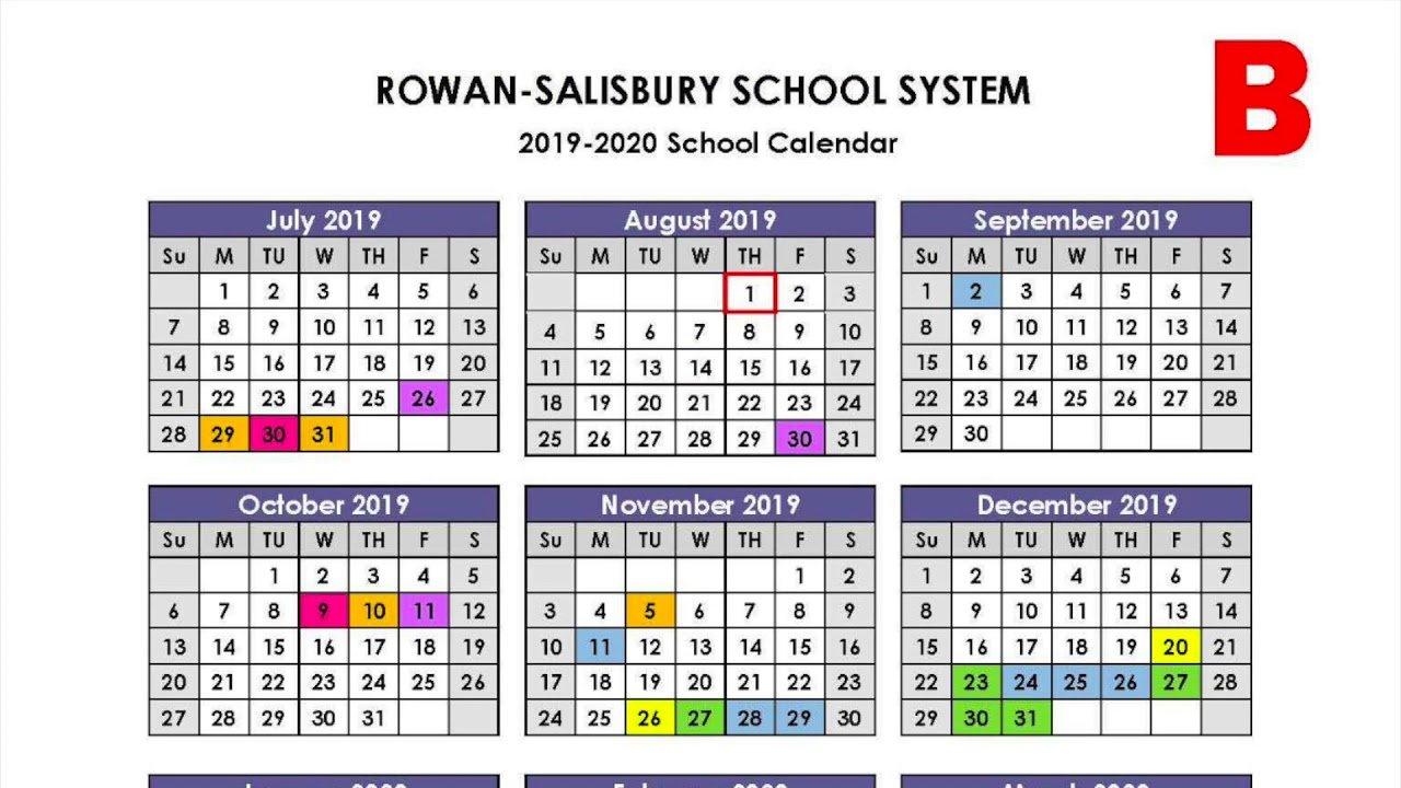 Rowan-Salisbury Schools Proposed Calendars Video - Youtube Calendar 2019 Video