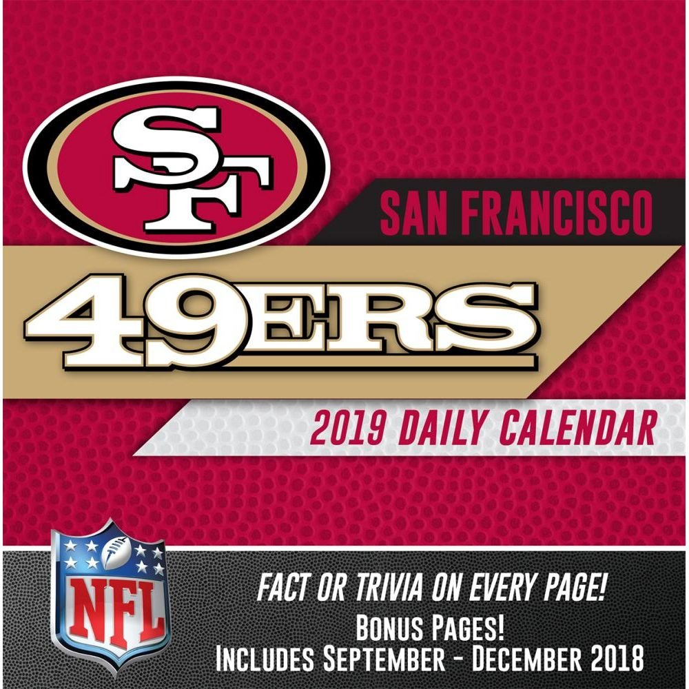 San Francisco 49Ers 2019 Desk Calendar-Calendars-Books & Gifts 49Ers Calendar 2019