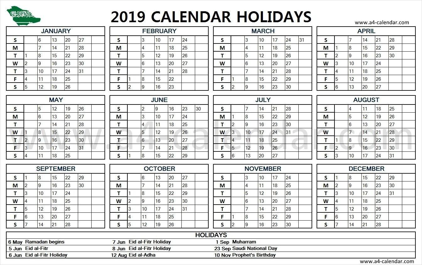 Saudi Arabia Holidays 2019 | Holiday Calendar 2019 | Calendar 2019 Calendar 2019 Ksa