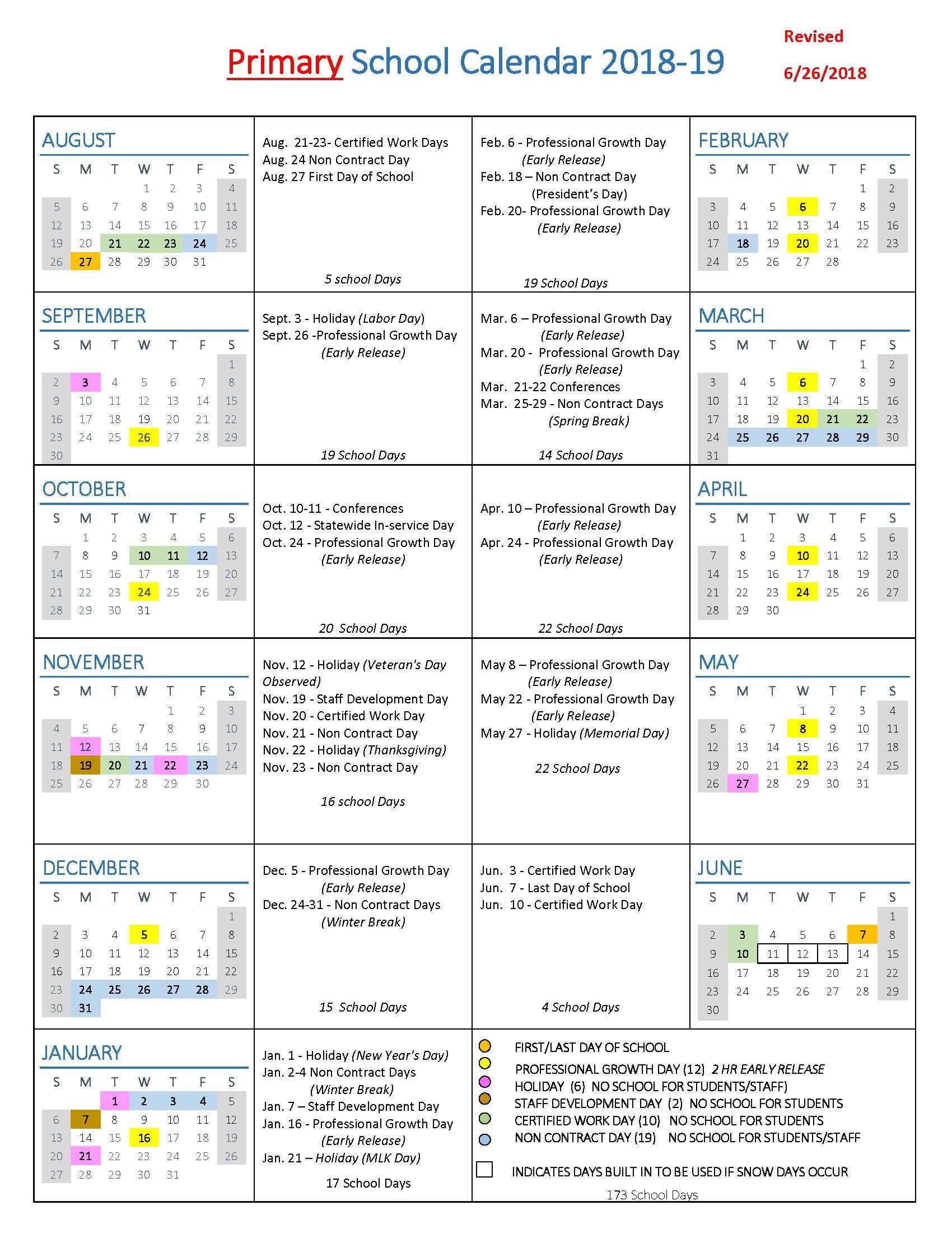 School Year Calendars / Wlwv School Calendars R 2019 Calendar