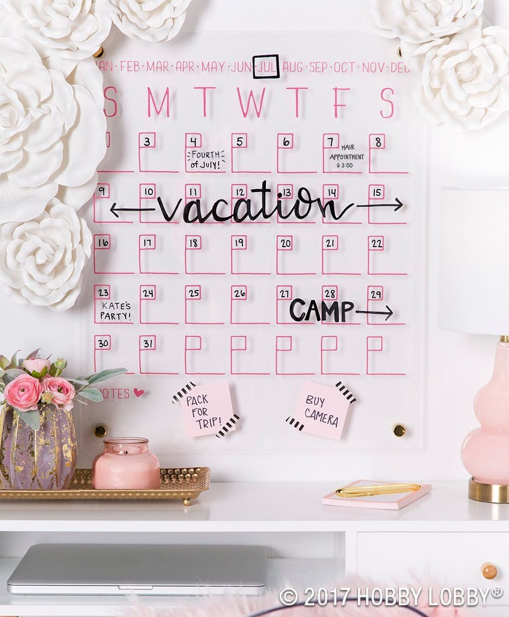 Staying Stylishly Organized Is Easy With This Acrylic Wall Calendar Calendar 2019 Hobby Lobby