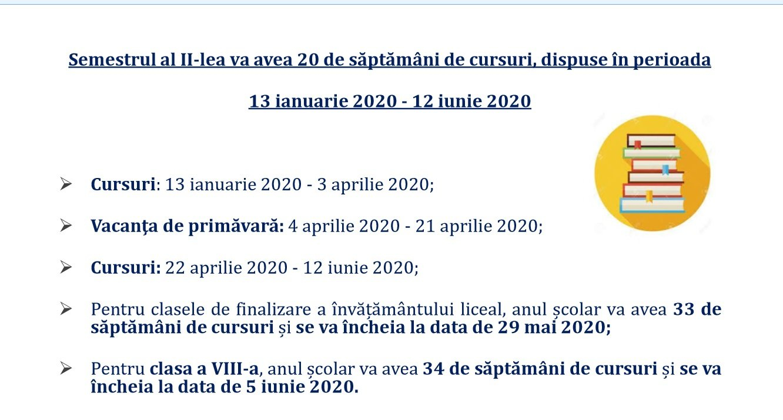 Structura Anului Școlar 2019-2020: Elevii Încep Cursurile Pe 9 Calendar Scolar 2019 Clasa 8