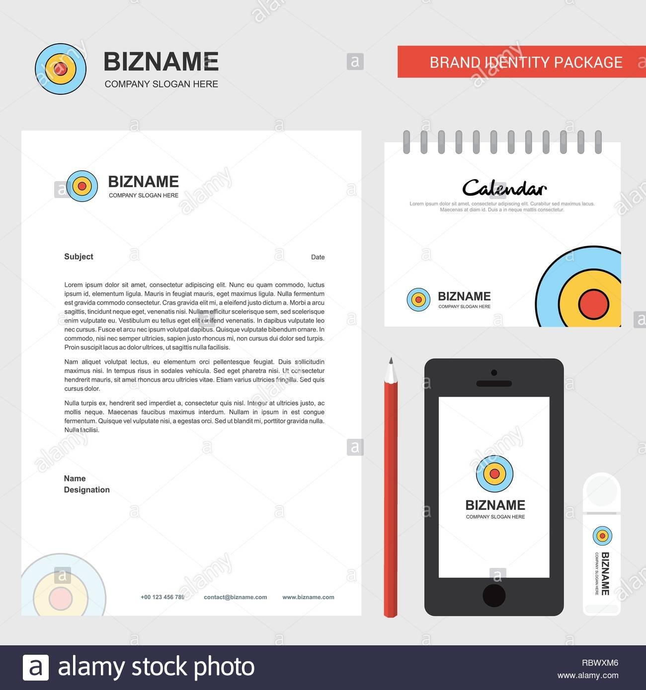 Target Business Letterhead, Calendar 2019 And Mobile App Design Calendar 2019 At Target