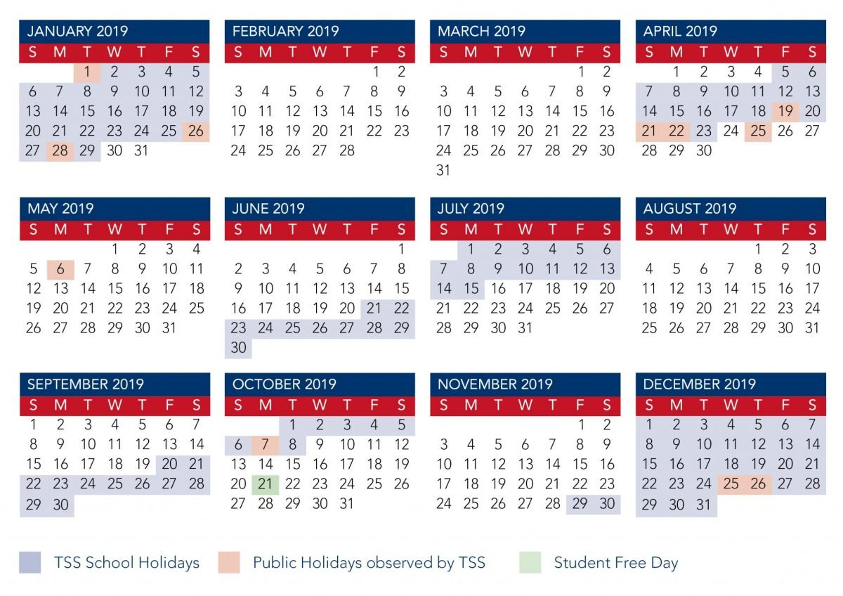 Term Calendar Dates | The Southport School Calendar 2019 Qld School Holidays