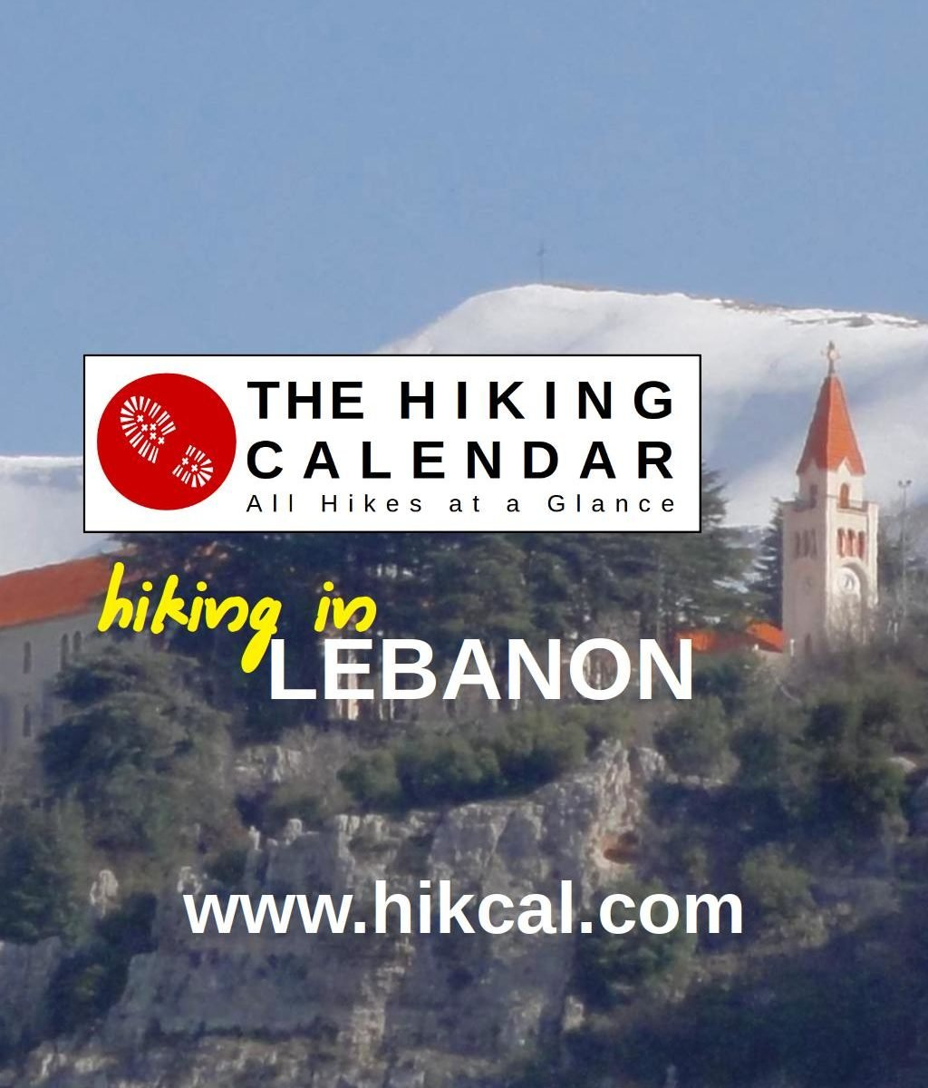 The Hiking Calendar | Hiking In Lebanon Calendar 2019 Lebanon
