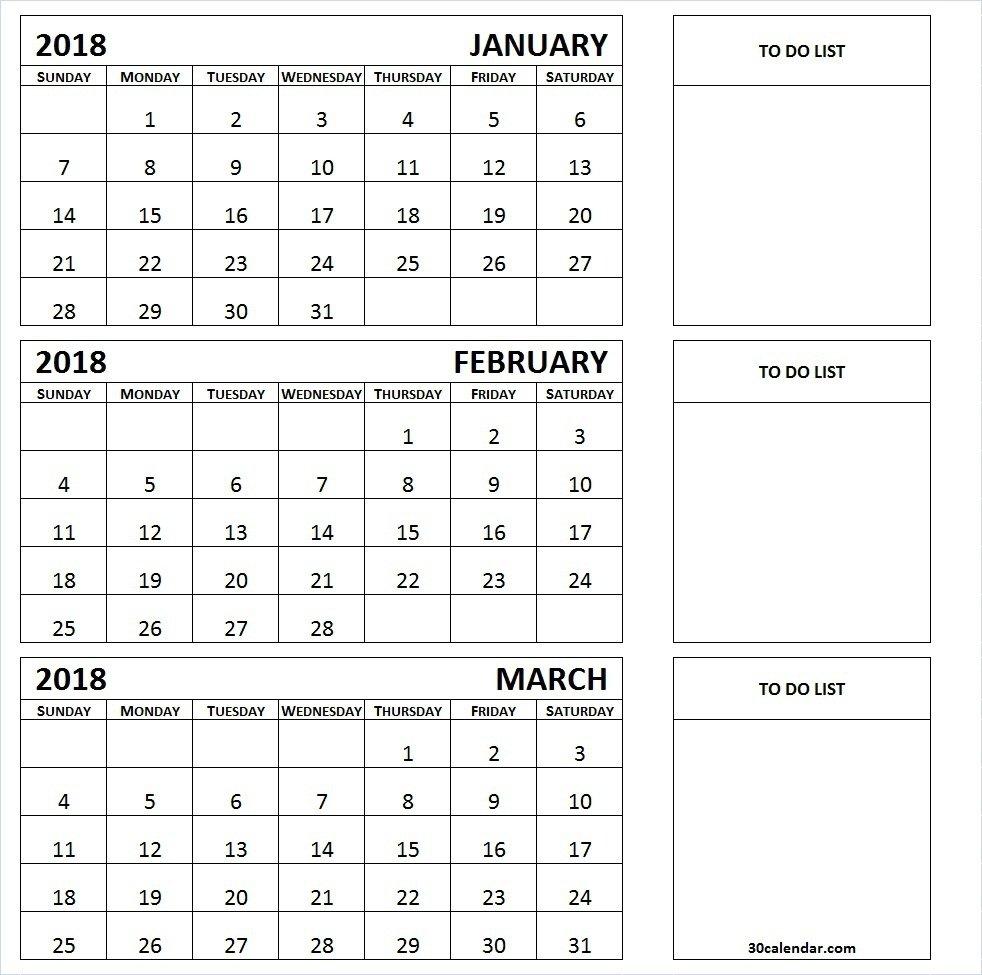 Three Month Printable Calendar 2019 | Printable Calendar 2019 3 Month Calendar 2019