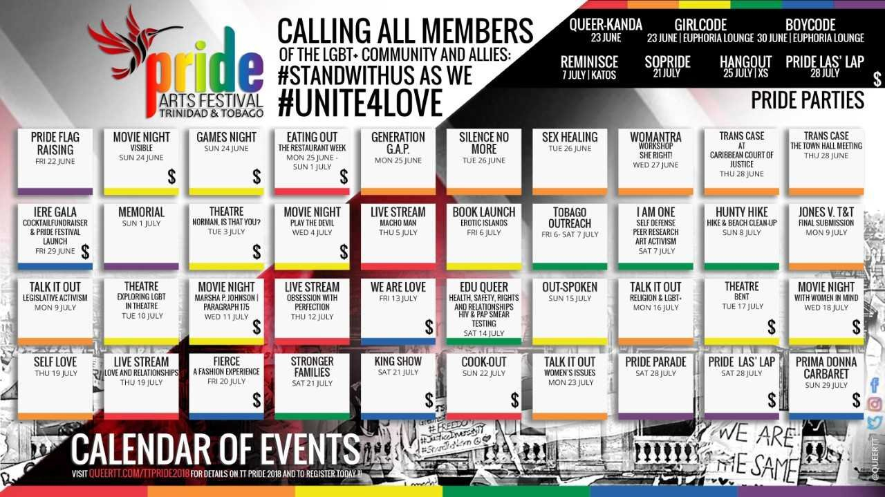 Tt Pride Committee Releases Calendar Of Events For Pride Month | Cnc3 T&t Calendar 2019