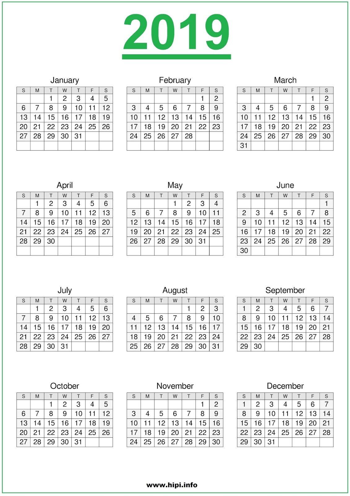 Twitter Headers / Facebook Covers / Wallpapers / Calendars: 2019 Calendar 2019 Nyc