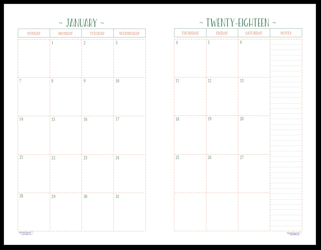 Two Page Monthly Calendar Template 2019 - Icard.cmi-C 2 Page Calendar 2019