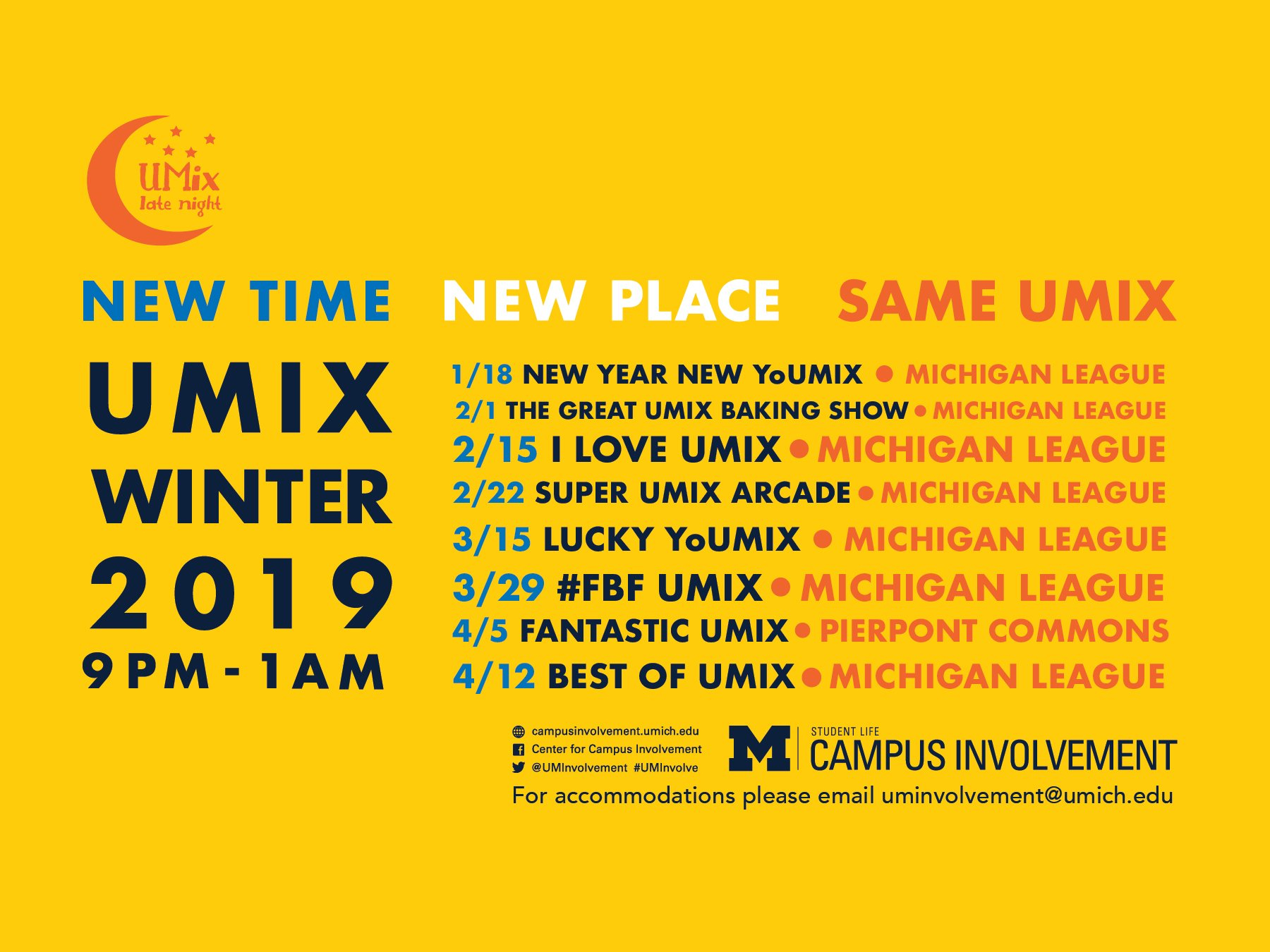 Umix Winter 2019 | Campus Involvement U Michigan Calendar 2019