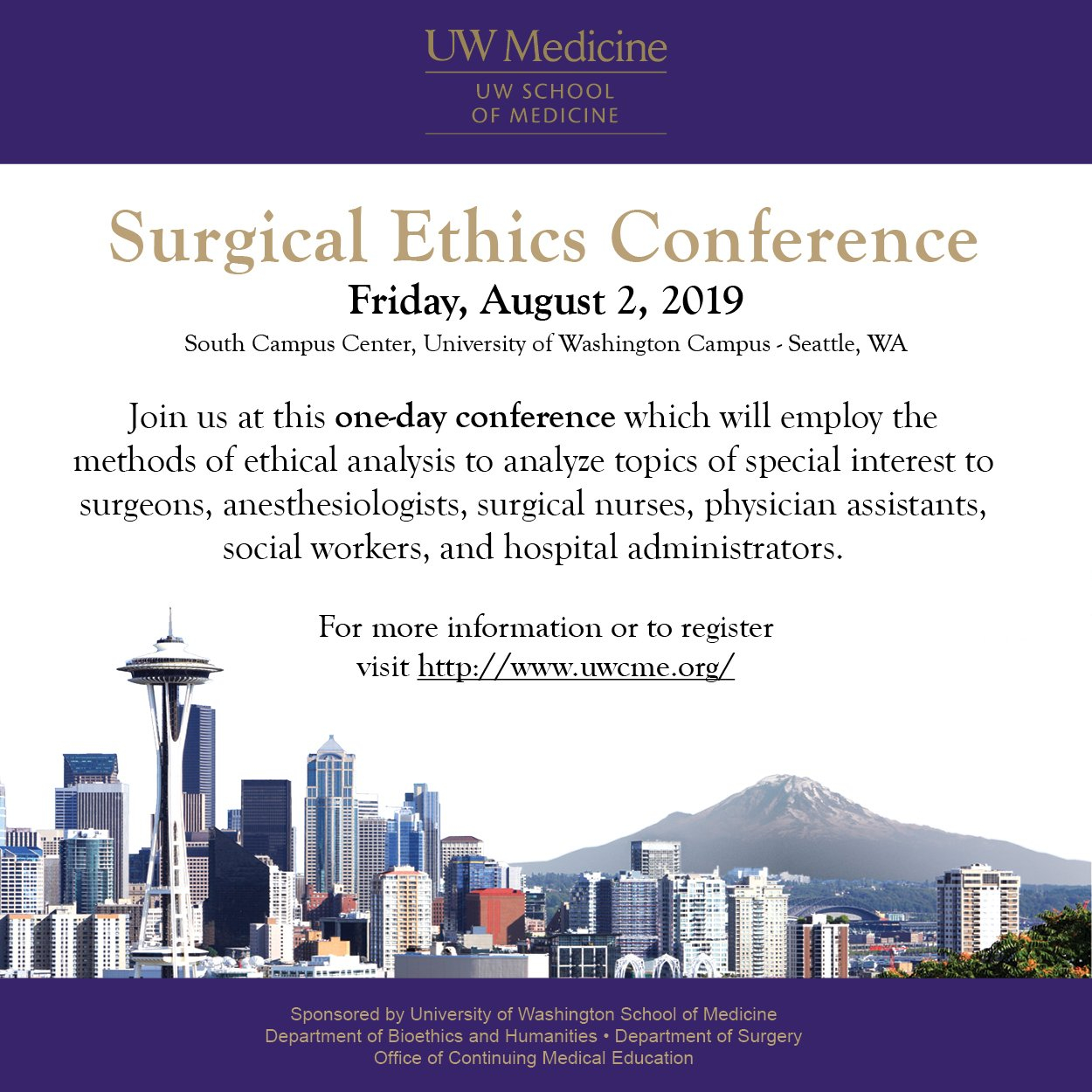 Upcoming Special Events – Department Of Surgery U Washington Calendar 2019