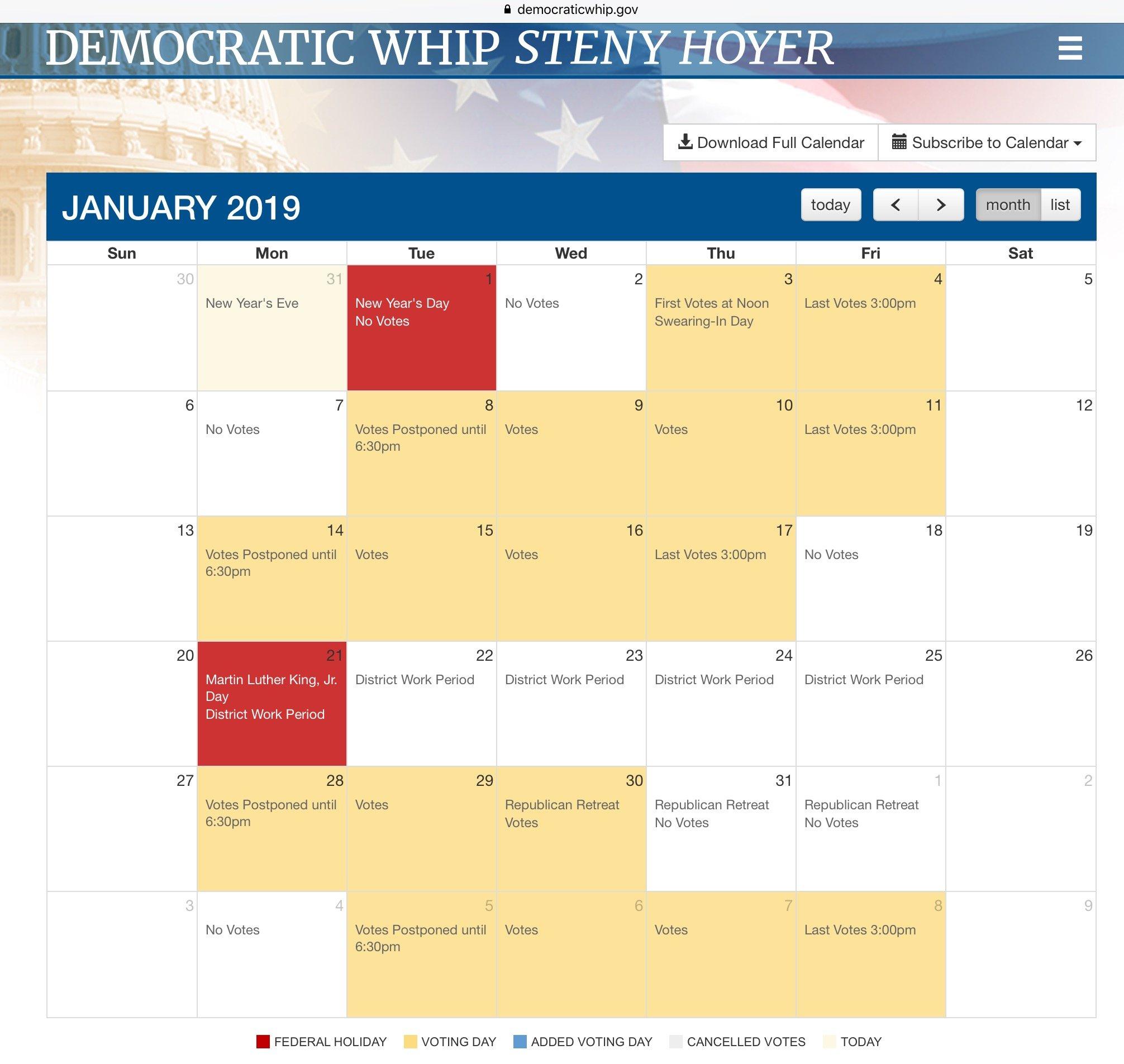 Us Congress: House Of Representatives Calendar 2019 | Mining Awareness + U.s. Senate Calendar 2019