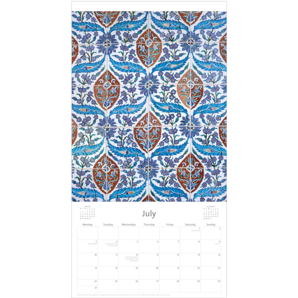 V&a Middle Eastern Patterns Calendar 2017 V&a Calendar 2019