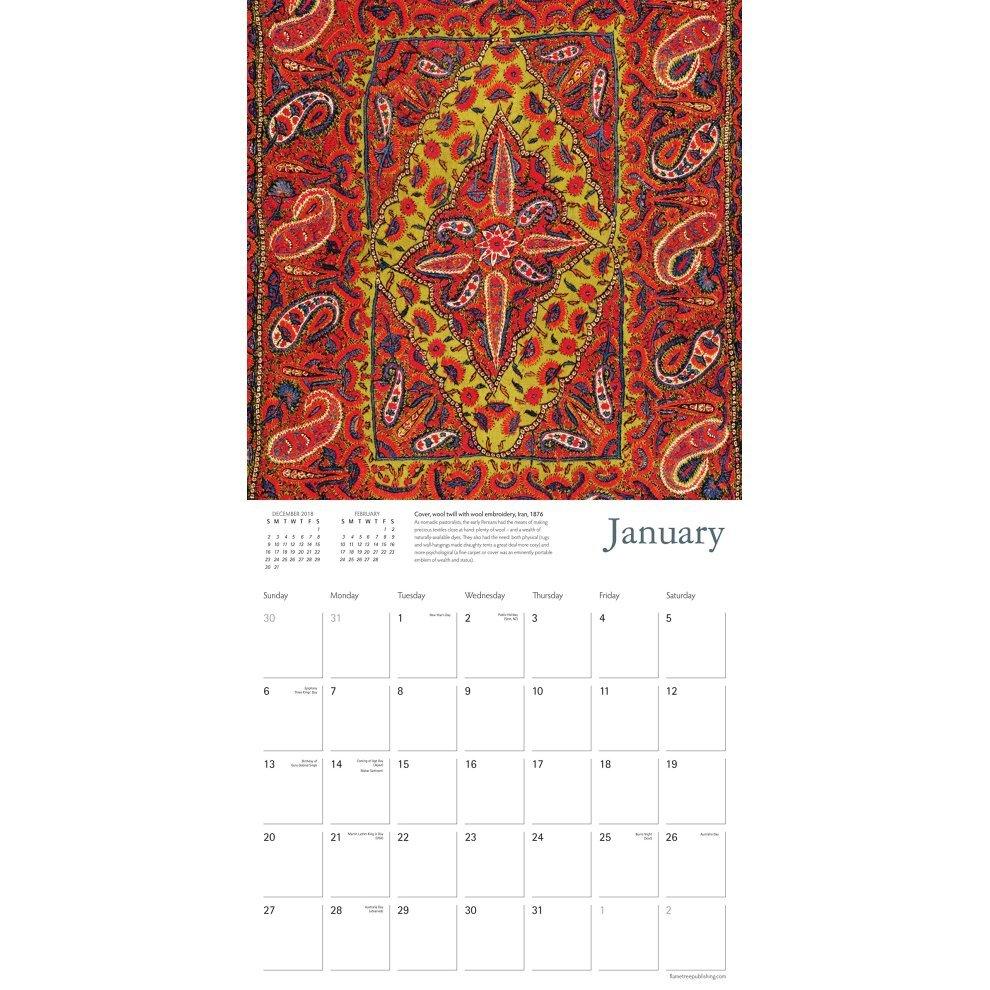 V&a - Persian Textiles Wall Calendar 2019 (Art Calendar) On Onbuy V&a Calendar 2019