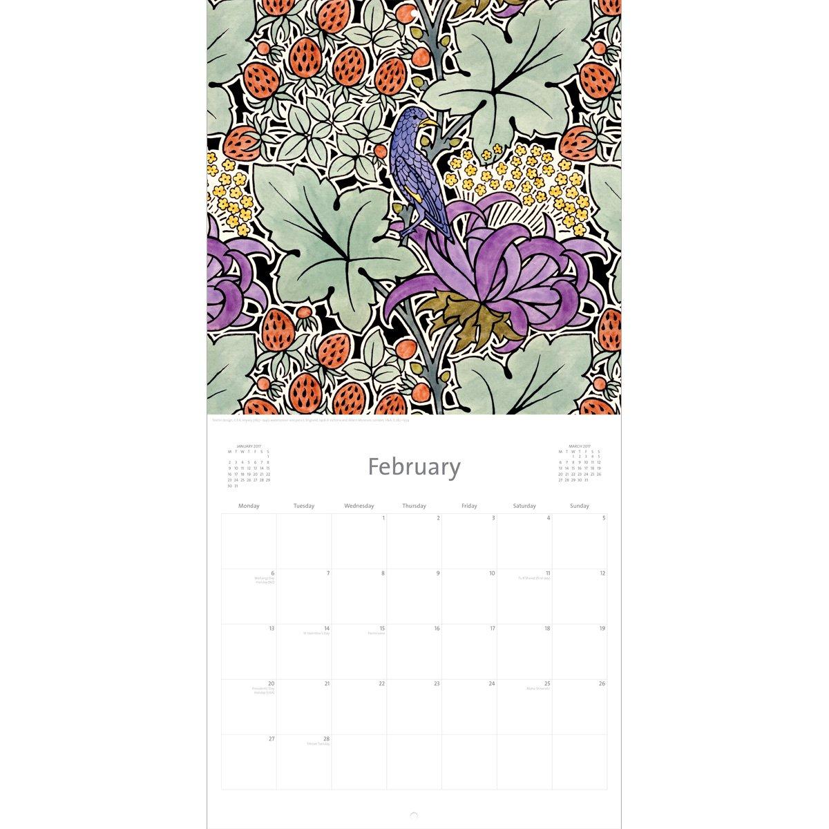 V&a Voysey Calendar 2017 V&a Calendar 2019