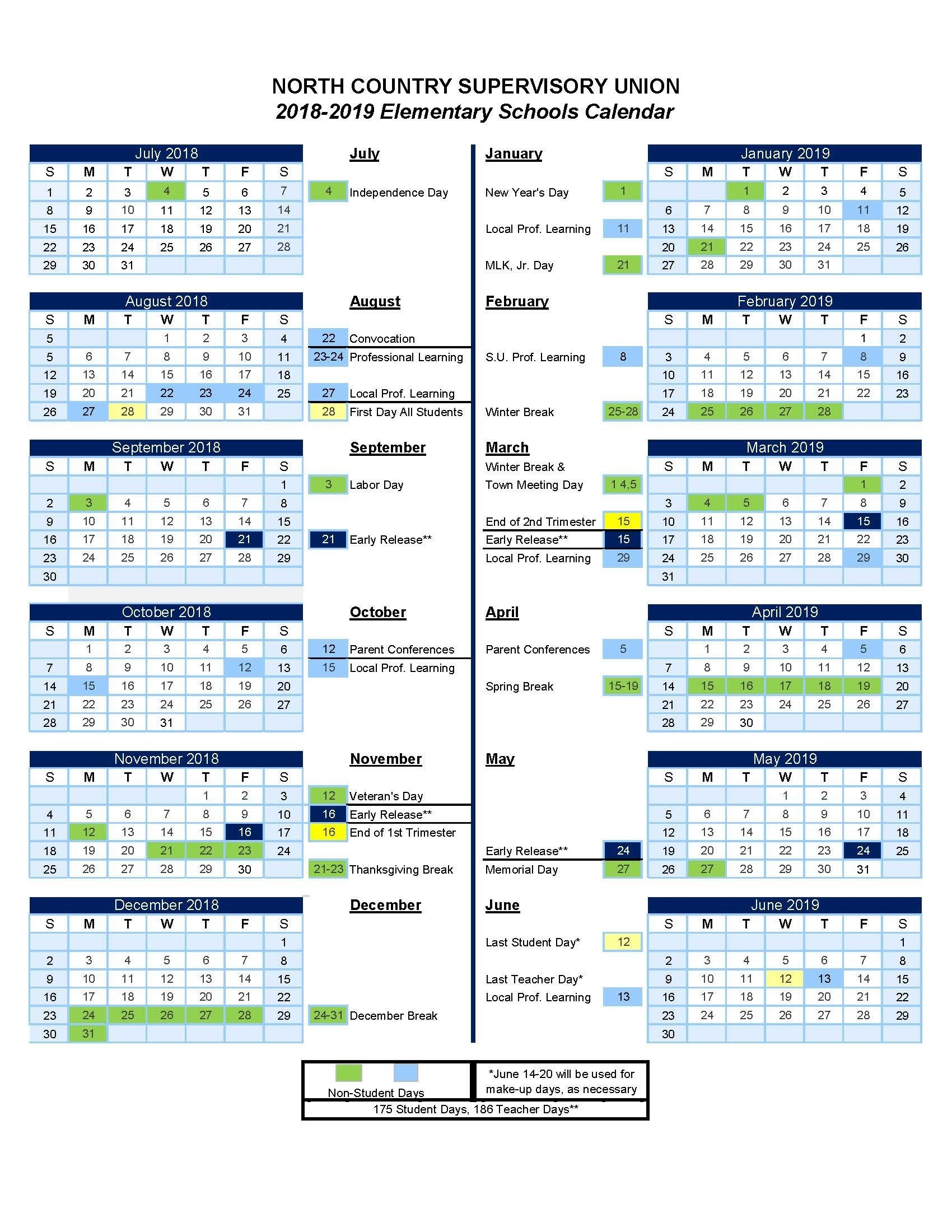 Vt Calendar 2018-2019 Print For Free Of Cost – Calendaro.download Calendar 2019 Vt