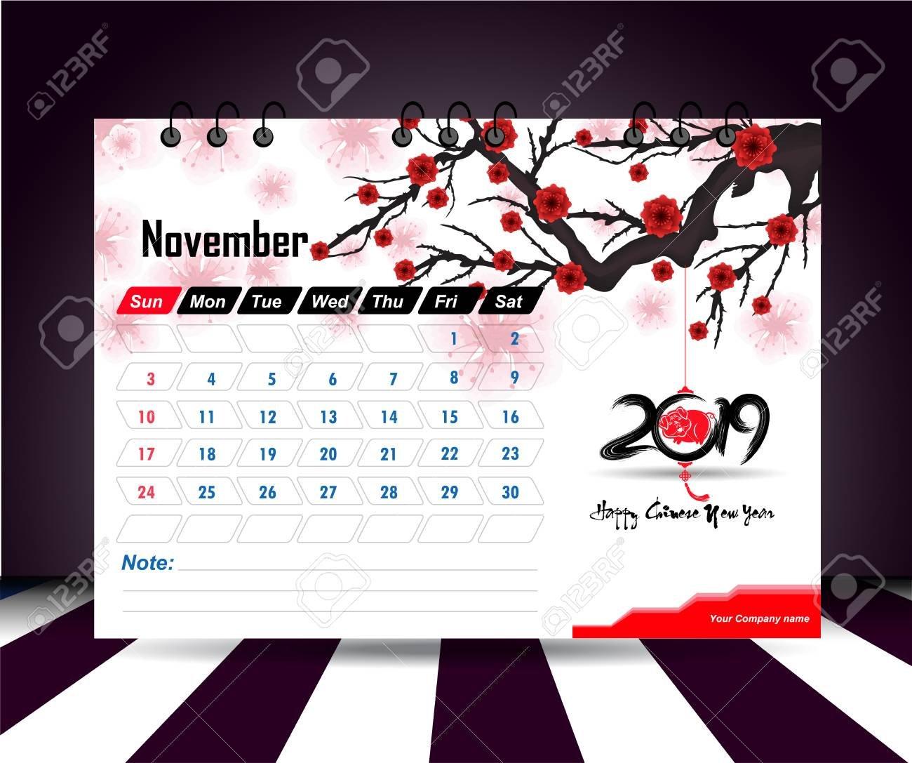 Wall Calendar 2019 Planner Template. Vector Design Print Template Calendar 2019 Wall